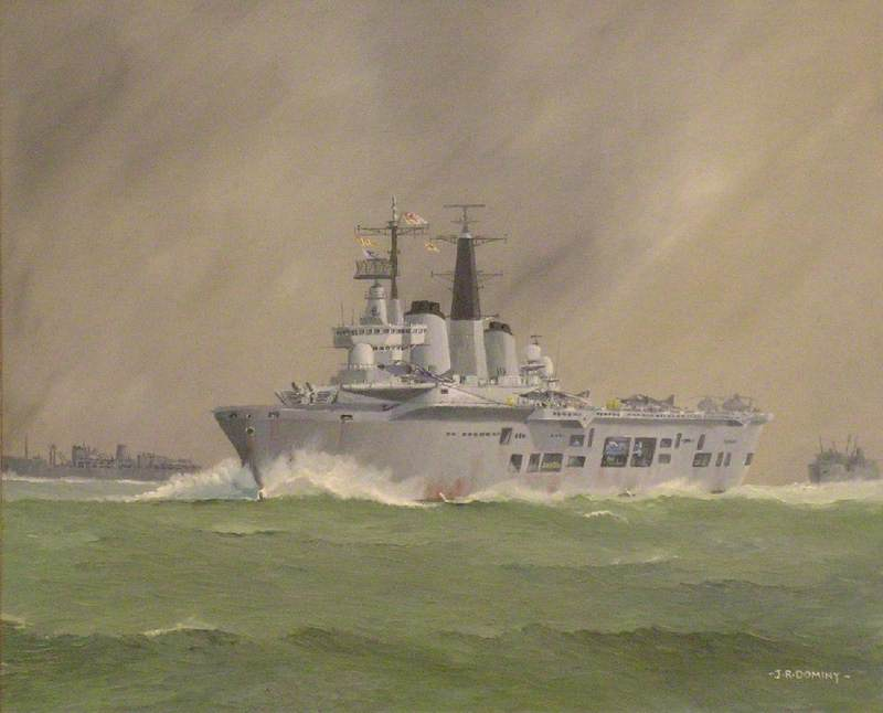 HMS 'Invincible' on Her Way to the South Atlantic