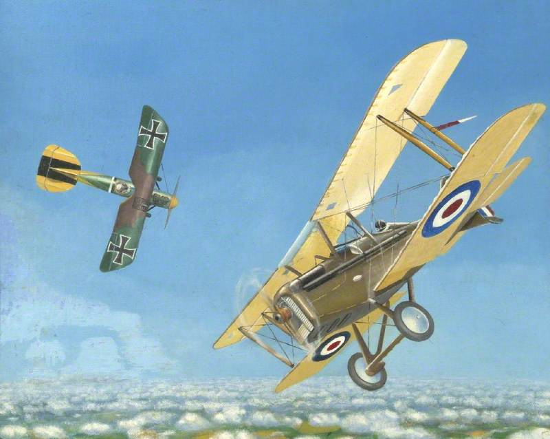 SE5a in First World War Dogfight