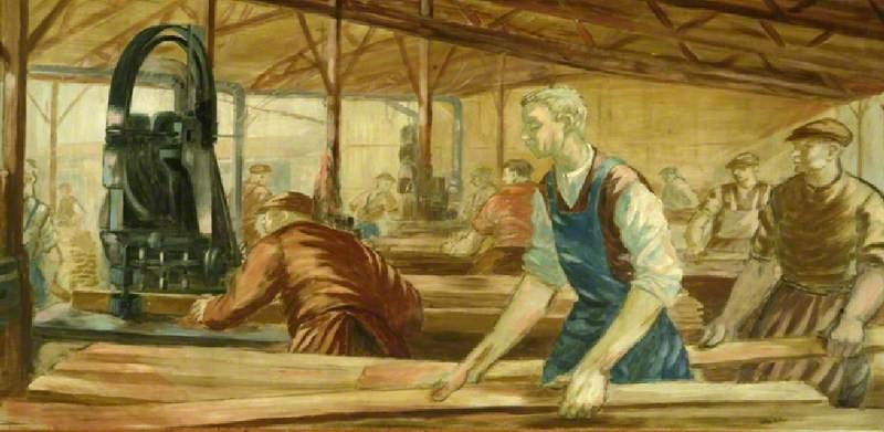 Wartime Wood Machining