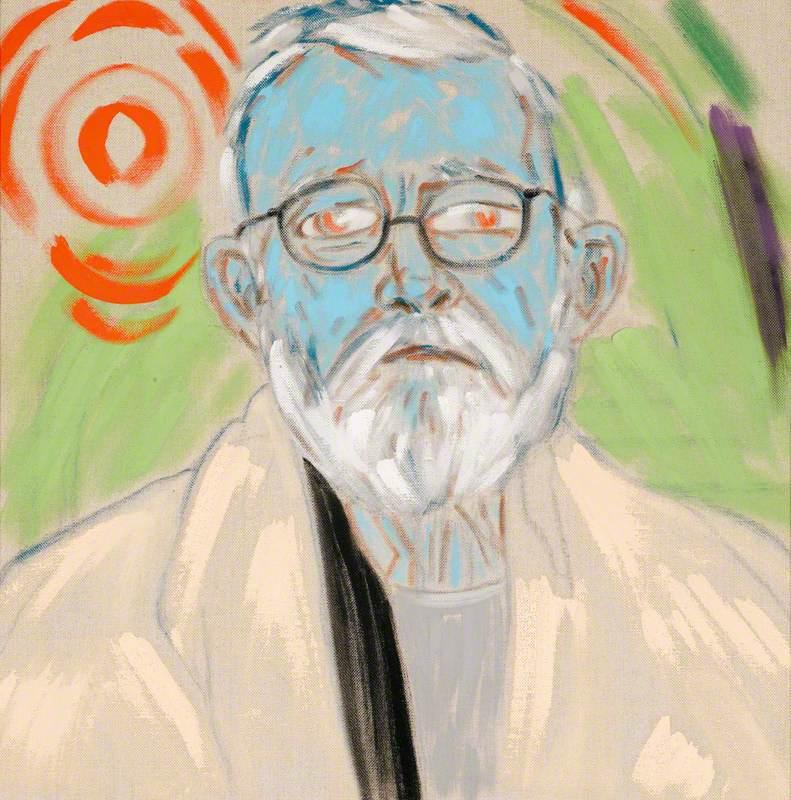 Radiant Turquoise Self-Portrait