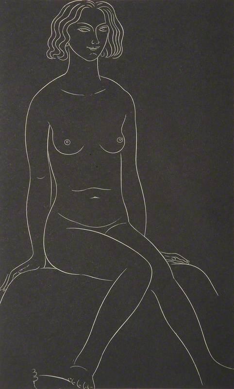 Female Nude, Seated