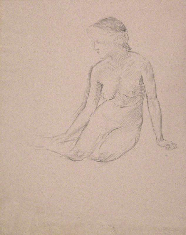 Life Study: Seated Woman with Her Legs to the Side