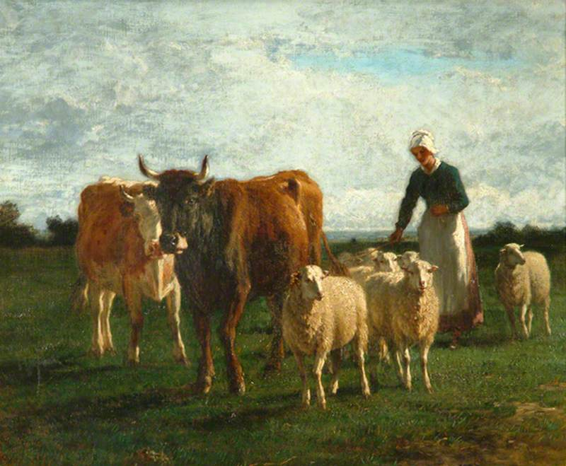 Evening, Driving Cattle