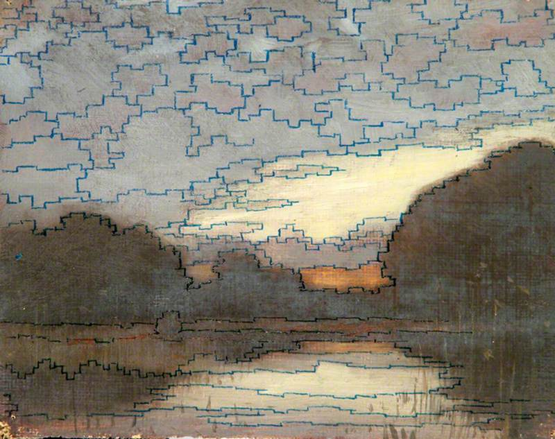 Patterned Lake, Sky and Trees