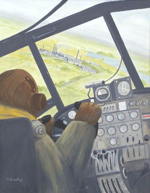 Pilot in Wellington over Dumfries