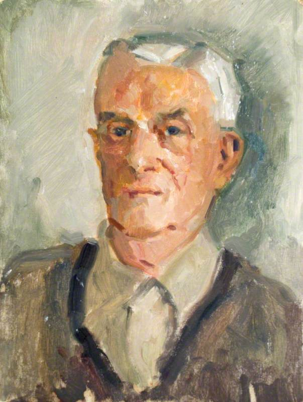 Head and Shoulders of an Elderly Man