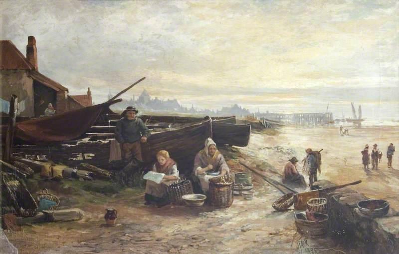 Shore Scene with Fisherfolk