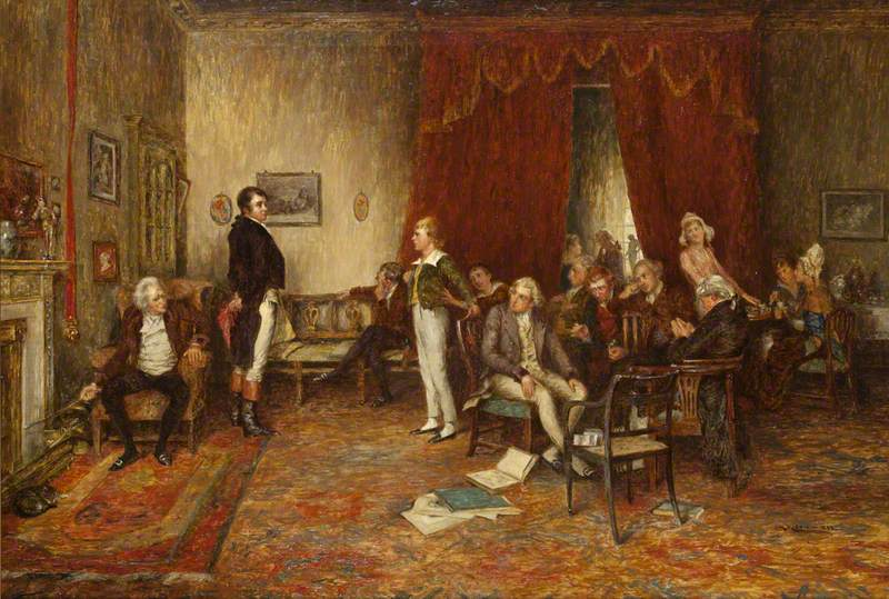 The Meeting of Robert Burns and Sir Walter Scott at Sciennes Hill House