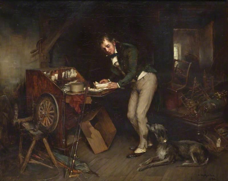 Sir Walter Scott Finding the Manuscript of 'Waverley' in an Attic