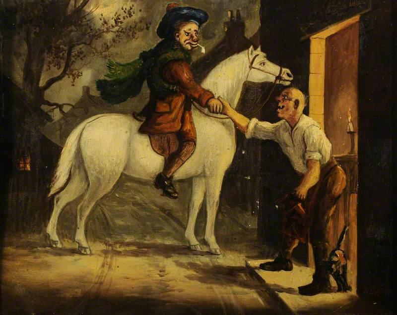 Scene from 'Tam o' Shanter': Tam on a White Horse