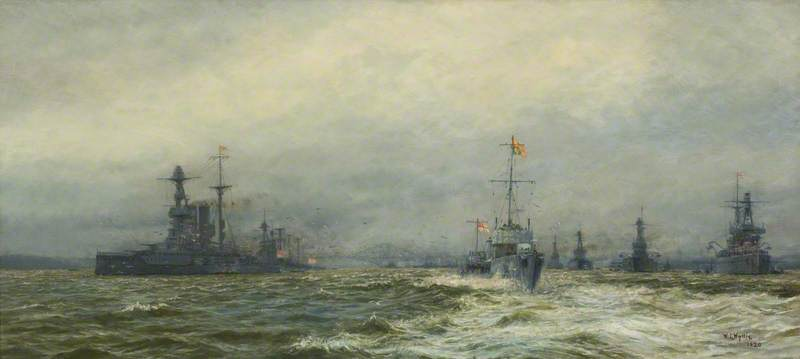 Review of the Grand Fleet in the Firth of Forth after the Armistice