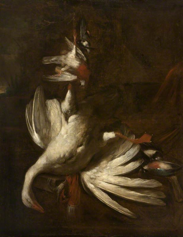Still Life of Poultry and Songbirds
