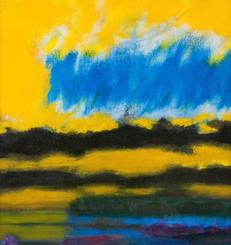Yellow Sky over Lake