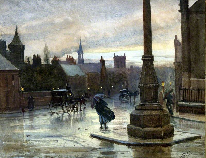 A Wet Night, May 1883