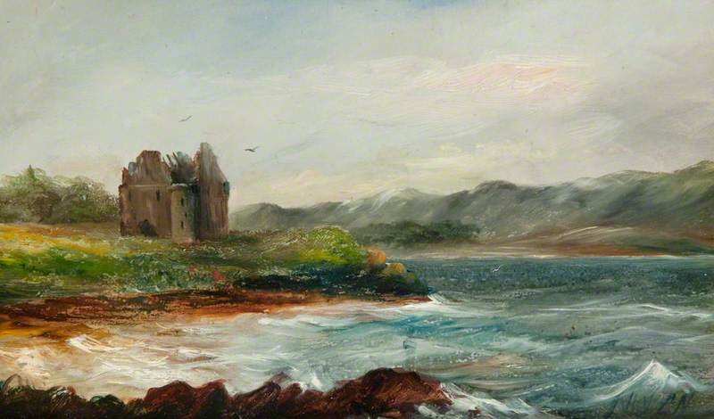 Ruin by a Loch Shore