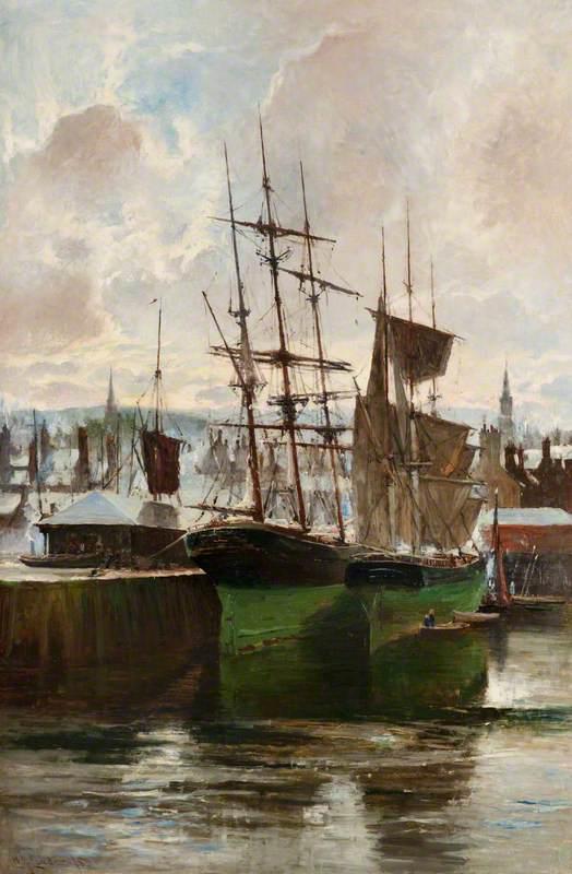 West Harbour, Greenock, Winter 1880