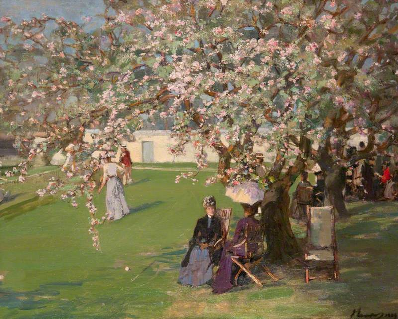 John Lavery, Paisley Lawn Tennis Club, Paisley Art Institute Collection, held by Paisley Museum and Art Galleries, Paisley, Scotland.