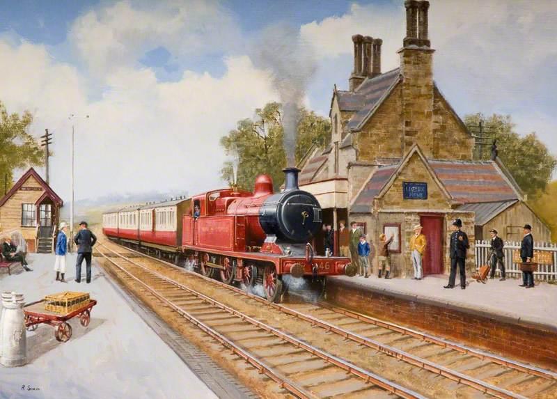 Train at Cheddleton Station
