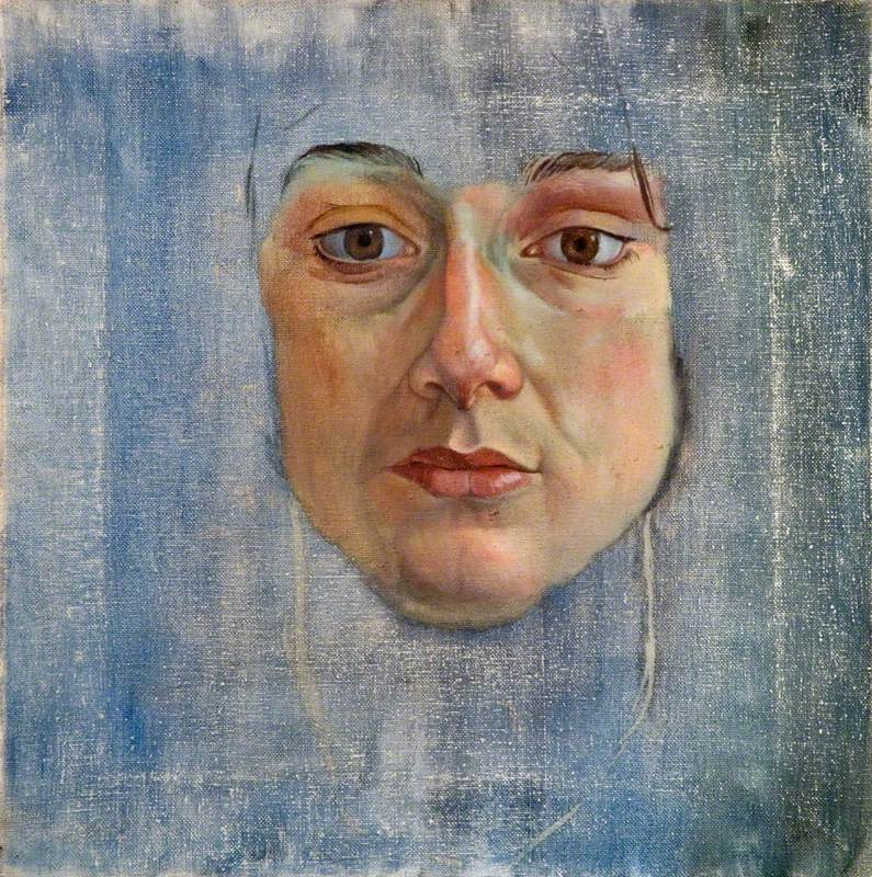 Unfinished Oil Sketch of a Young Woman's Face