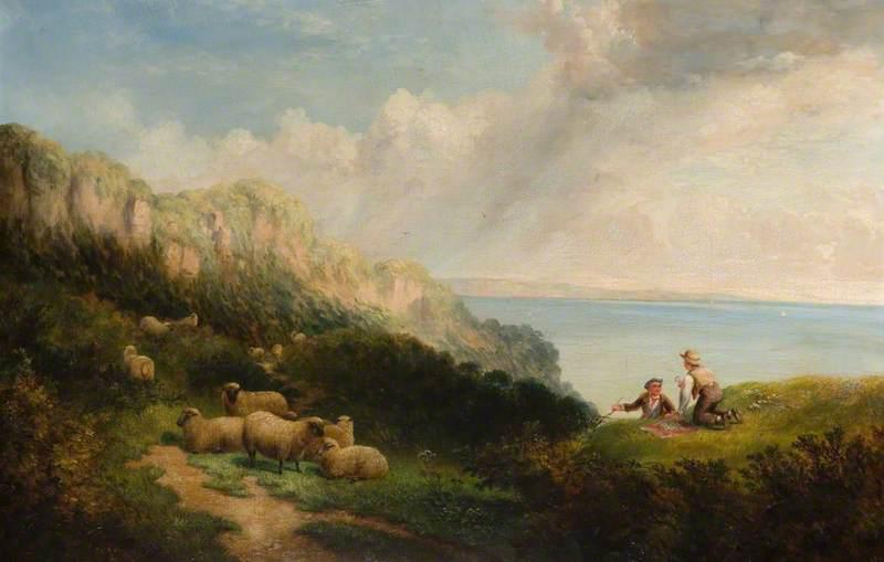 Shepherd Boys with their Flock