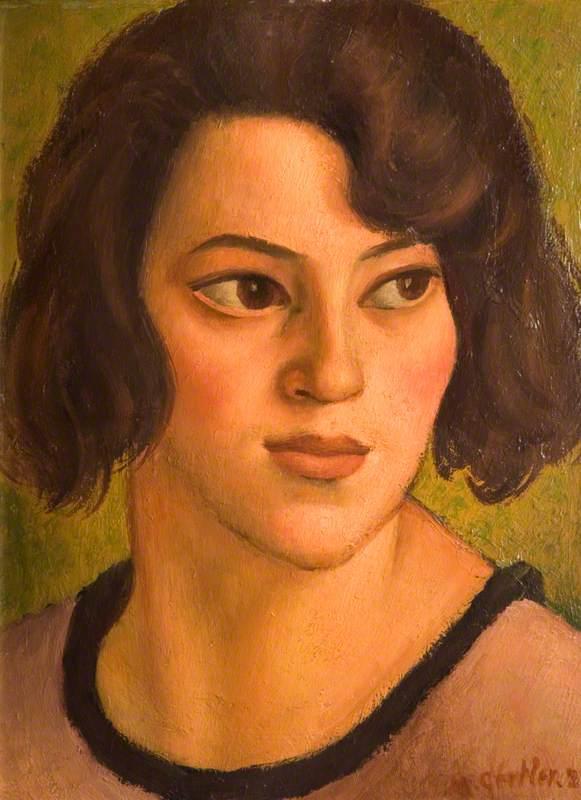 Head of a Basque Shepherdess