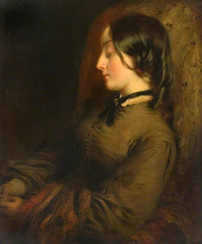 Portrait of a Seated Woman Sleeping