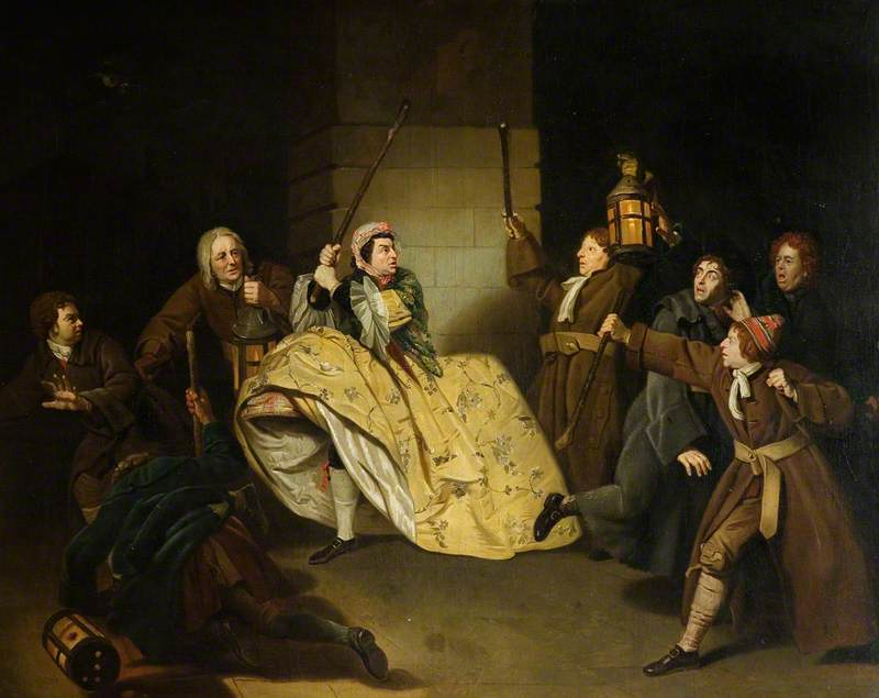David Garrick as Sir John Brute in Vanbrugh's 'The Provoked Wife'