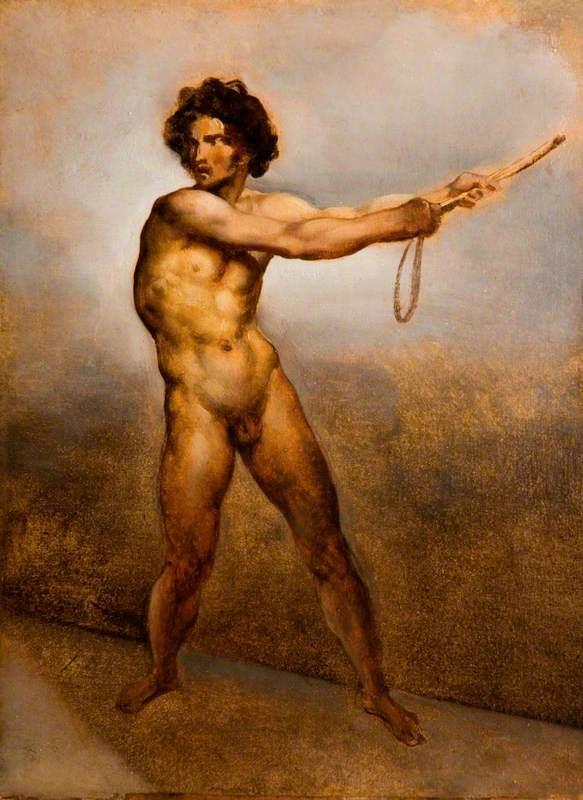 Etude d'un homme nu