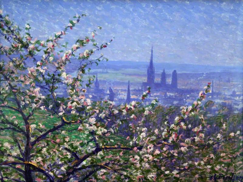 View of Rouen through an Apple Tree