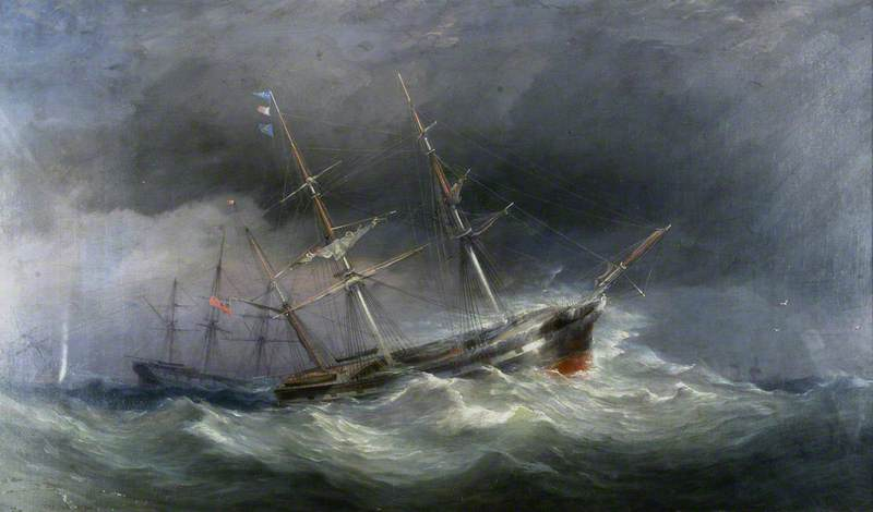 Seascape with Three Barques
