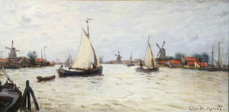Bateaux en Hollande, près de Zaandam