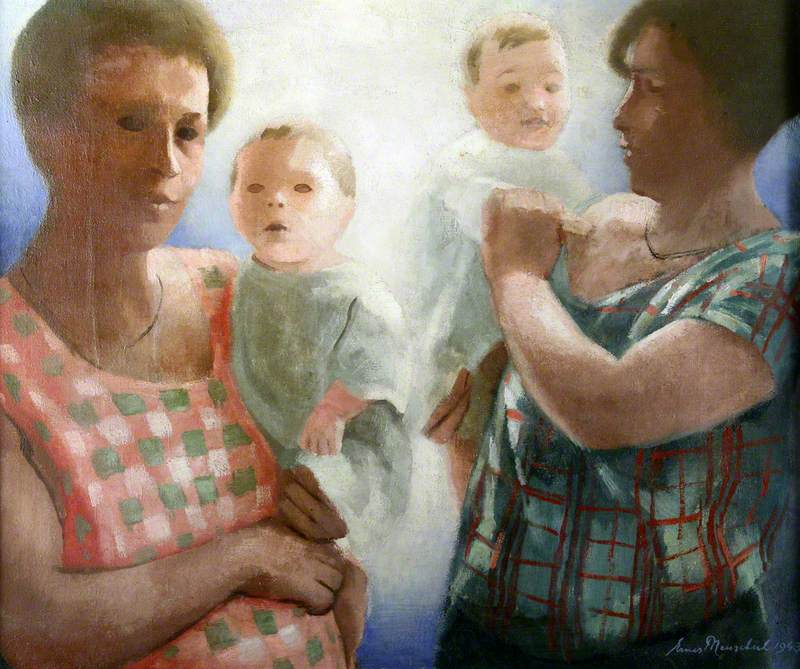 Untitled (Two Mothers and Babies)