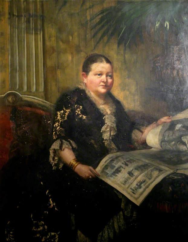 Portrait of a Mayoress of Swansea