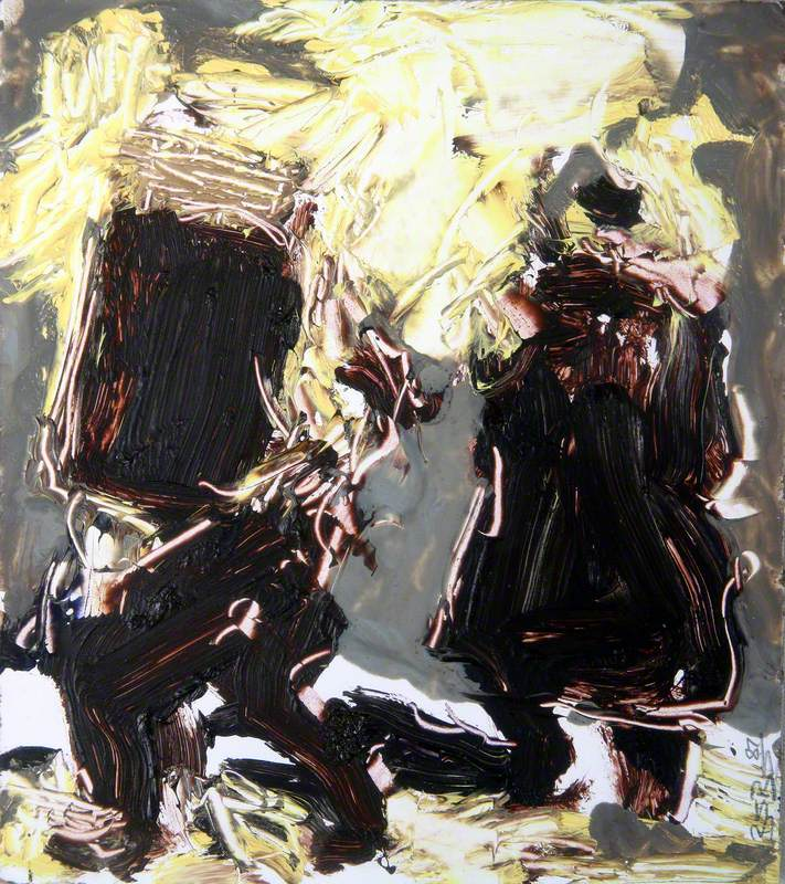 Study for 'Petrol Bomb Attack'