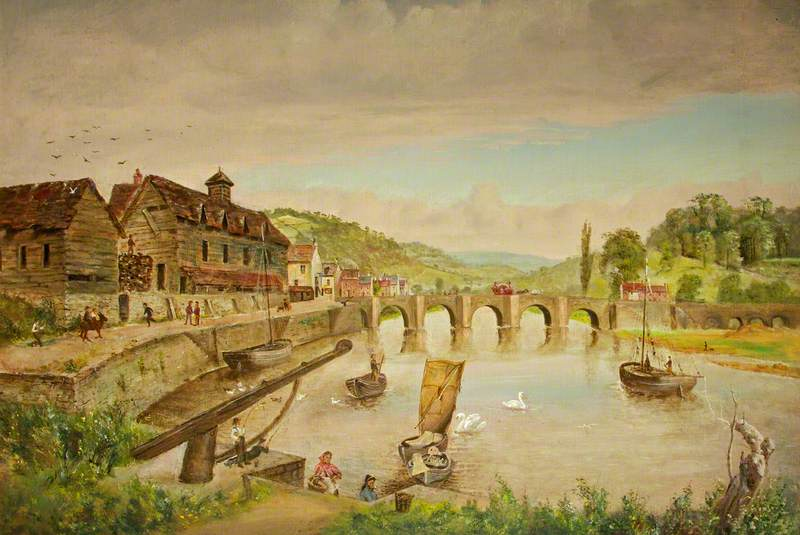 Wye Bridge and the Bark House, Monmouth