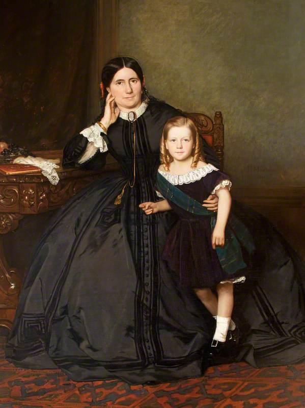 Eliza Crawshay, née Harris, with Her Son