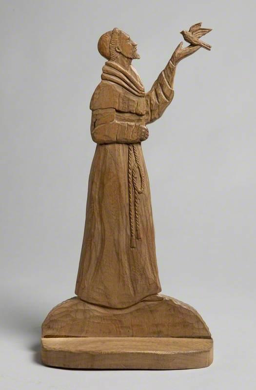 Saint Francis of Assisi Holding a Bird