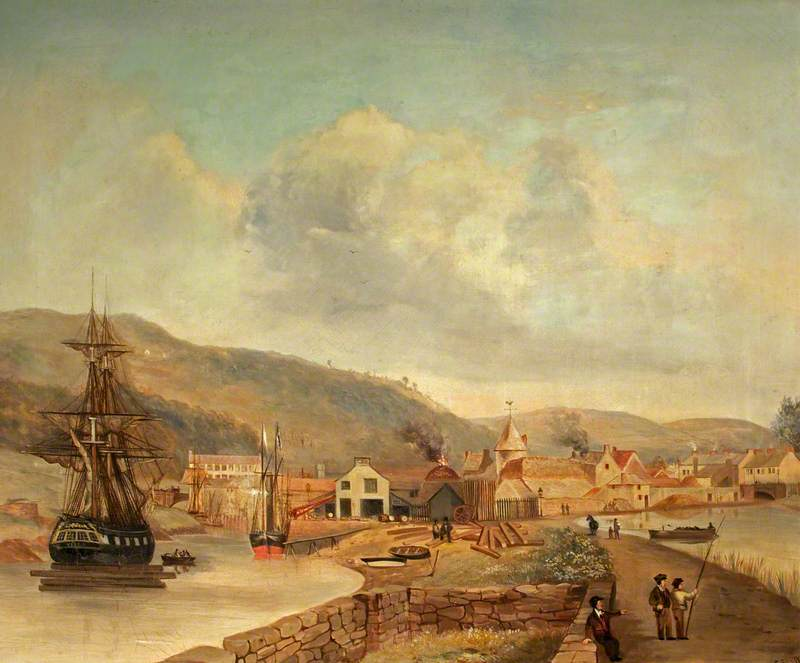 The River Neath with the Ship 'Viola'
