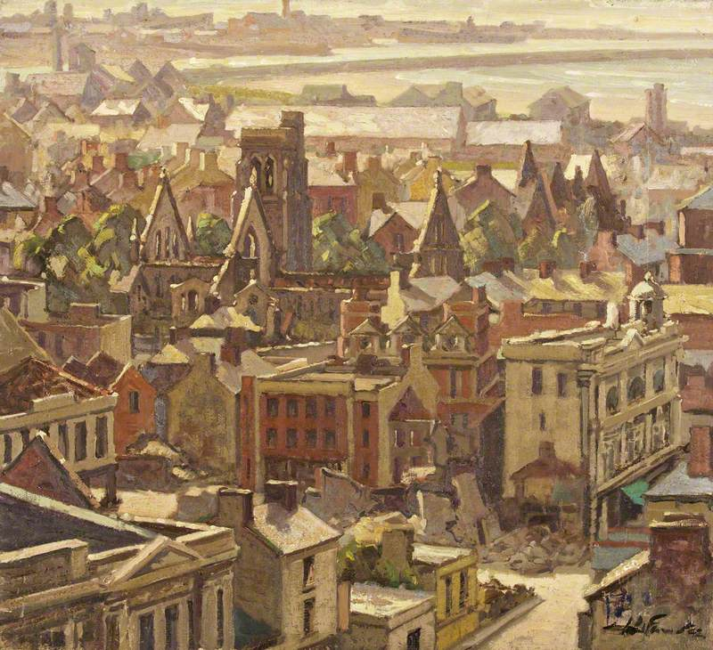 St Mary's Square after the Blitz, Swansea