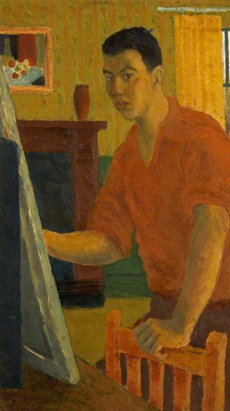 Self Portrait: Painting in an Interior