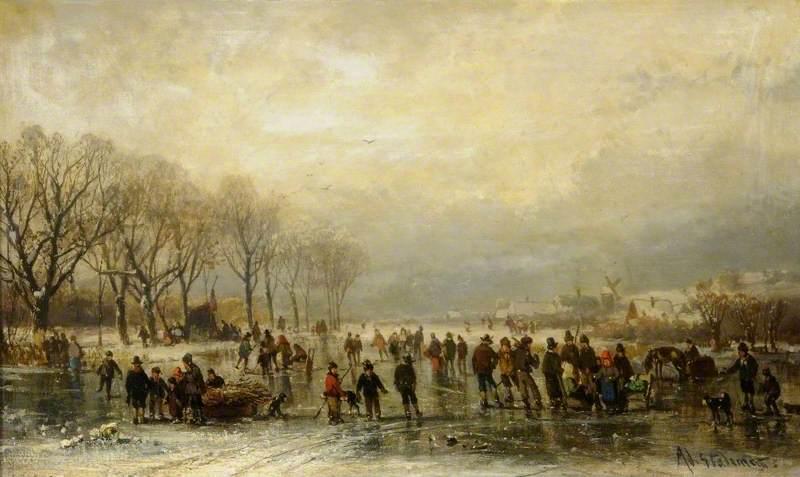 A Frozen River Scene