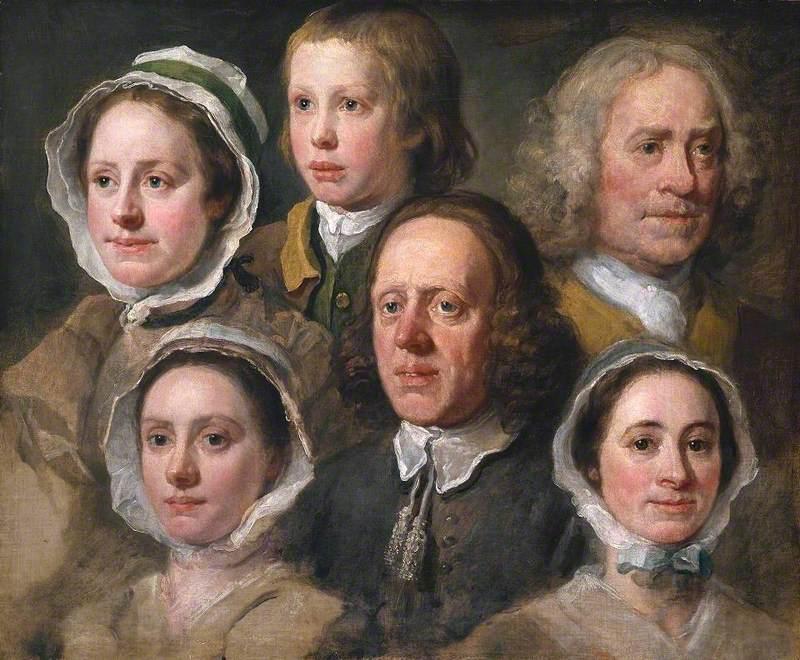 Heads of Six of Hogarth's Servants