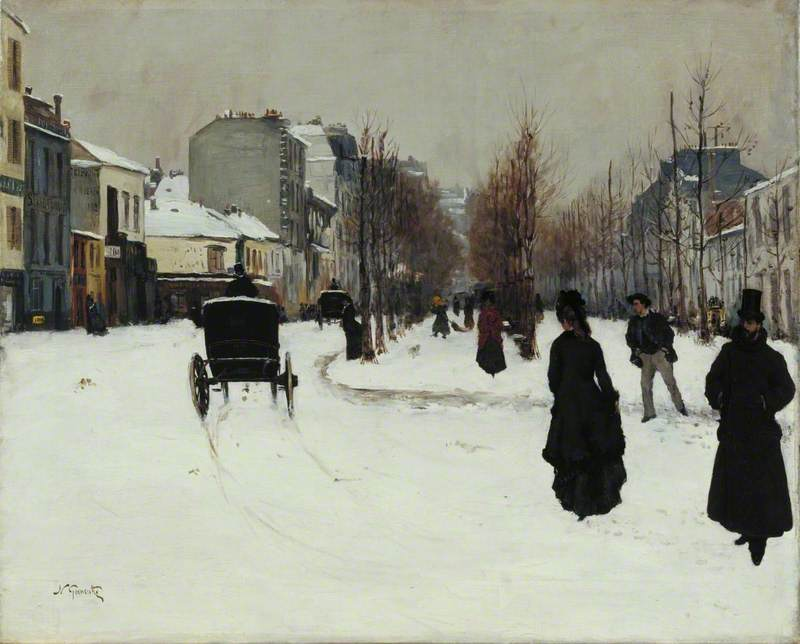 The Boulevard de Clichy under Snow (Le Boulevard de Clichy, par un temps de neige)