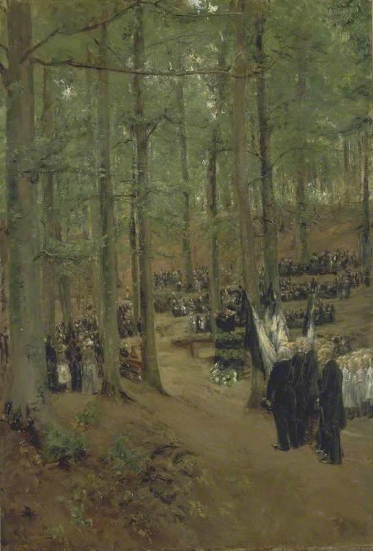 Memorial Service for Emperor Frederick at Kösen (Kaiser Friedrich Gedächtnisfeier in Kösen)