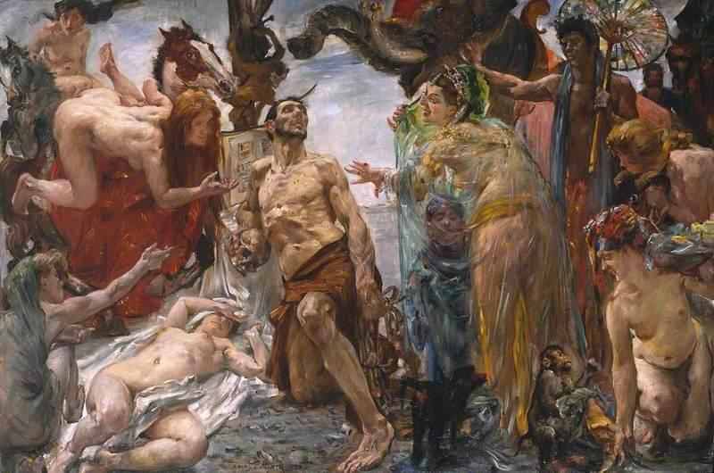 The Temptation of St Anthony after Gustave Flaubert (Die Versuchung des heil. Antonius nach Gustave Flaubert)