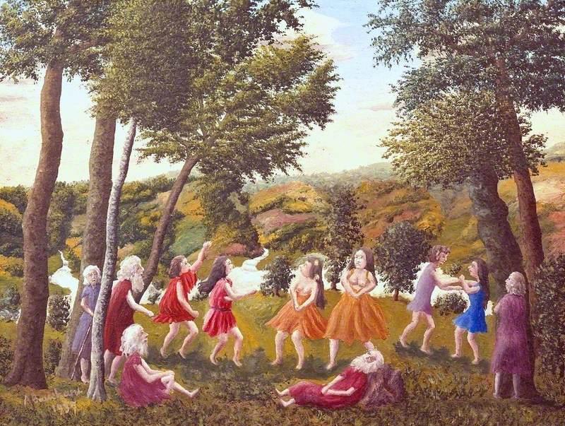Greek Dance in a Landscape (Danse grecque dans un paysage)