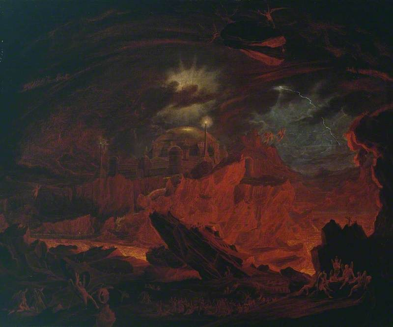 The Fallen Angels Entering Pandemonium, from 'Paradise Lost', Book 1