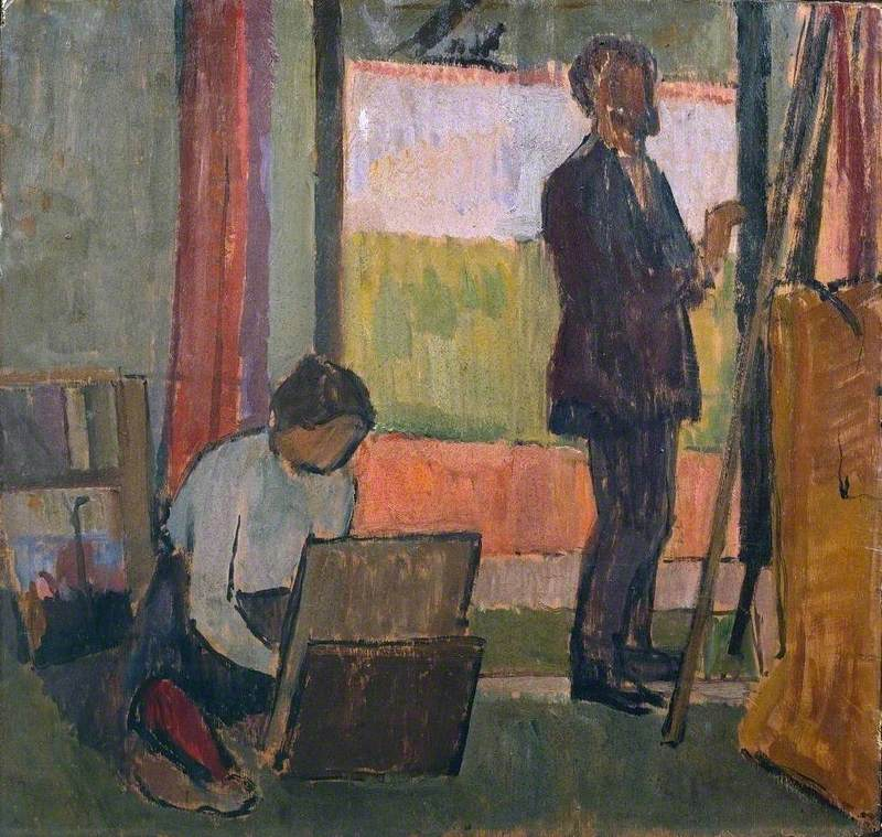 Frederick and Jessie Etchells Painting