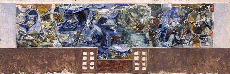 Study for the Mural Painting at Cecil Sharp House, London