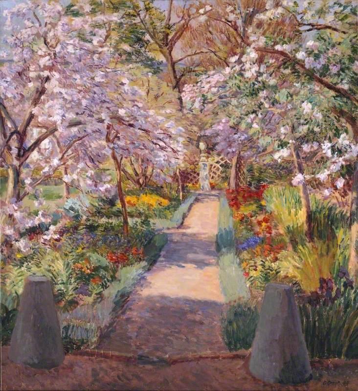 Garden Path in Spring